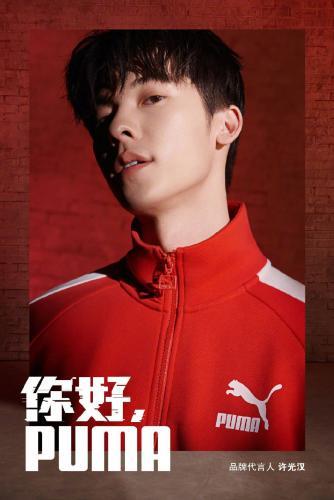 台湾帅哥许光汉红色运动衣套装帅气写真