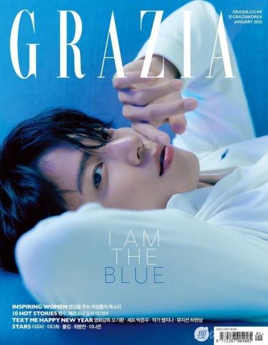 韩国帅气男星郑容和沉稳帅气GRAZIA杂志写真图片