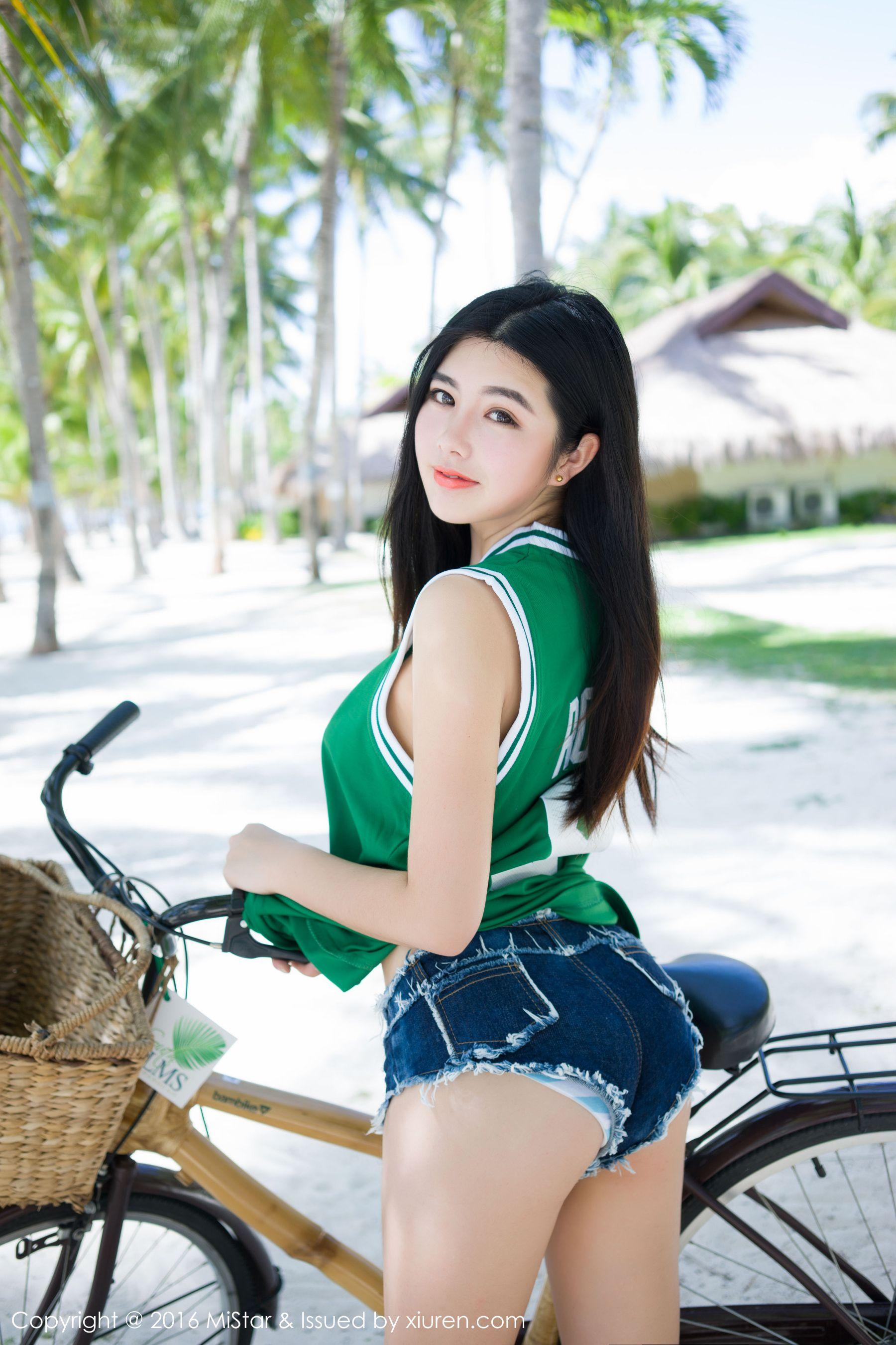 娜露Selena《球衣+透视网衣+牛仔热裤》 [魅妍社MiStar] Vol.073 写真集1