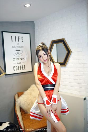 沈梦瑶《不知火舞+猫耳少女COS》 [嗲囡囡FEILIN] VOL.094 写真集