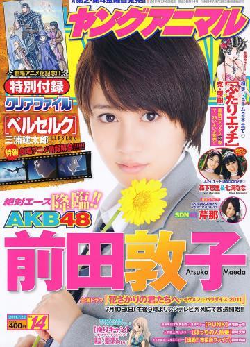 前田敦子 芹那 森下悠里 七海なな [Young Animal] 2011年No.14 写真杂志