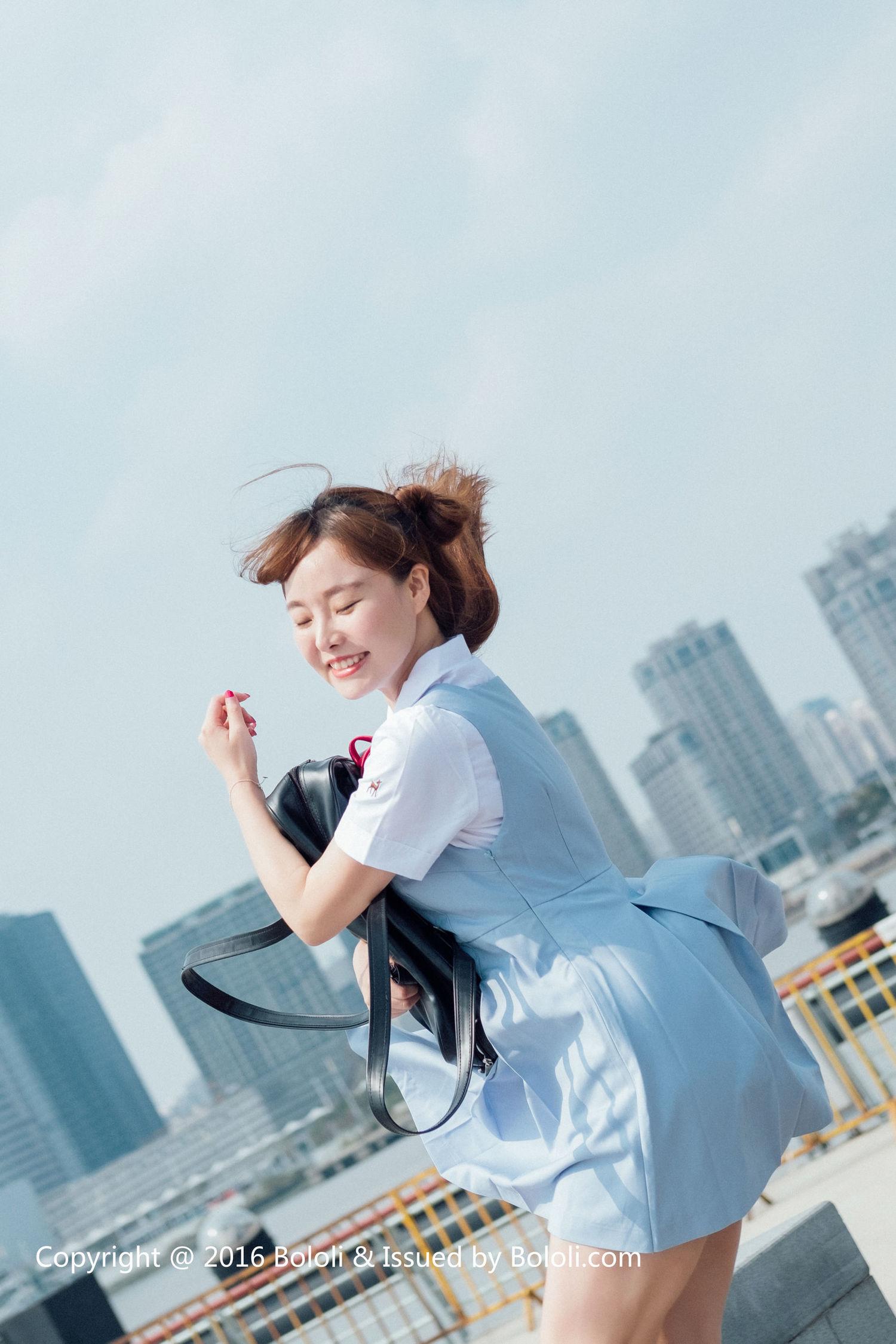 制服女神柳侑绮《青涩的回忆》 [Bololi波萝社] BOL.006 写真集1
