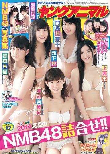 NMB48 吉田朱里 上西恵 渡辺美優紀 矢倉楓子 山本彩 室加奈子 [Young Animal] 2014年No.17 写真杂志