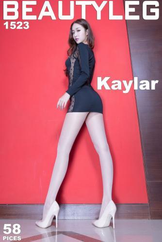 腿模Kaylar康凯乐《包臀裙+亮丝高叉》 [Beautyleg] NO.1523 美腿写真集