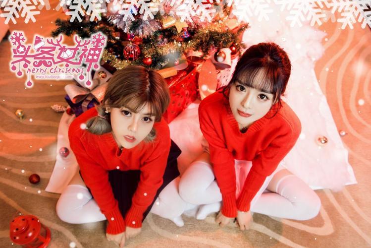 周熙妍&白甜《圣诞快乐时光》 [头条女神TouTiao] 写真集