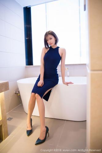 杨晨晨sugar《蓝色礼服+白衬衫+蕾丝内衣》 [秀人XiuRen] No.919 写真集