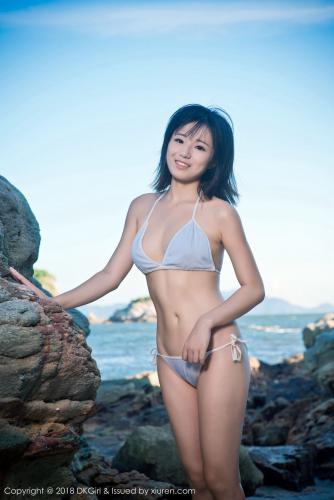 日系清纯美女@苍井优香《湿身海岸露出》 [御女郎DKGirl] Vol.058 写真集