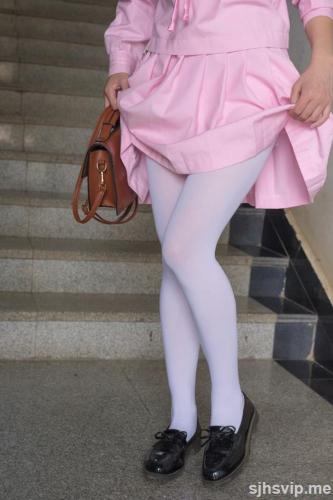 《JK粉色校服白丝》 [森萝财团] X-026 写真集