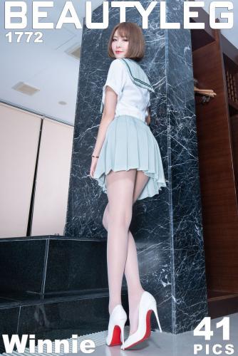 腿模Winnie《学生制服+吊带连衣裙》 [Beautyleg] No.1772 写真集