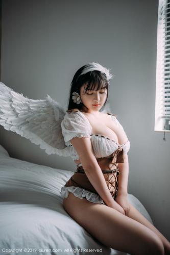 小尤奈《童颜巨乳女仆+魅惑内衣》 [秀人XIUREN] No.1824 写真集