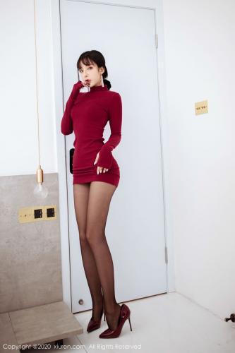 陈小喵《红色高领毛衣 + 高跟黑丝系列!》 [秀人XIUREN] No.1968 写真集