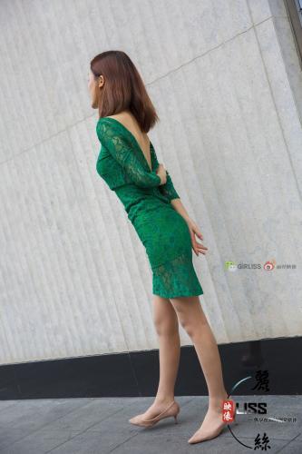 梁冰《绿色的旗袍丝》 [丽丝映像GIRLISS]  写真集