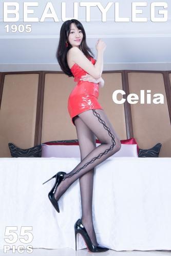 欣洁Celia《黑丝皮裙+肉丝高跟美腿》 [Beautyleg] No.1905 写真集