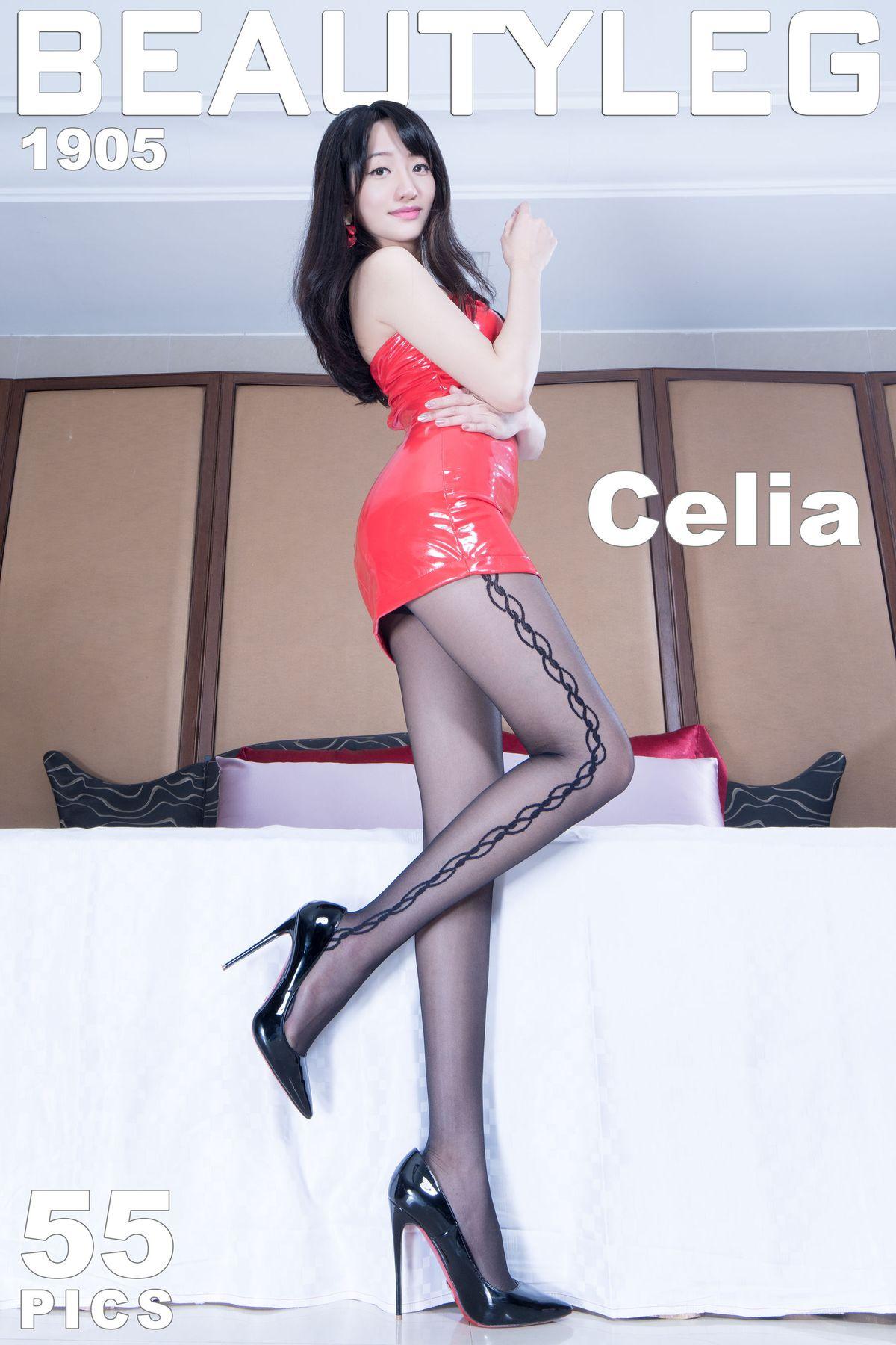 欣洁Celia《黑丝皮裙+肉丝高跟美腿》 [Beautyleg] No.1905 写真集1