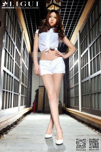 [丽柜贵足LiGui] Model 允儿《热裤高跟美足》美腿玉足写真图片