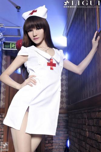 [丽柜贵足LiGui] Model 晴晴《情趣护士高跟》美腿丝足写真图片