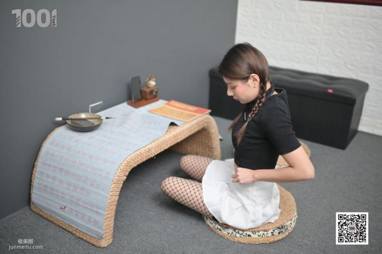 [IESS一千零一夜] 模特:真真《被囚禁在家里练字1》 美腿写真集