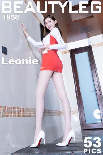 [Beautyleg] No.1958 Leonie《黑丝网袜+肉丝套裙》 制服美腿写真集