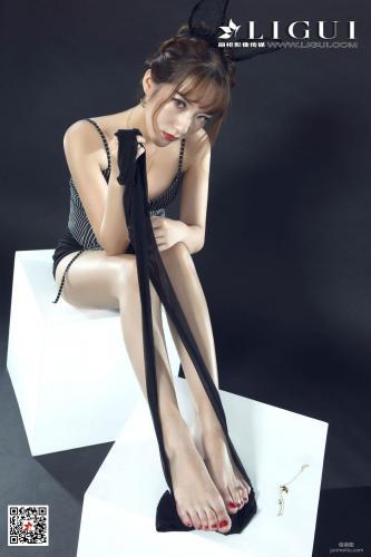 [丽柜Ligui] Model 汐汐 《黑丝兔女郎》 写真集