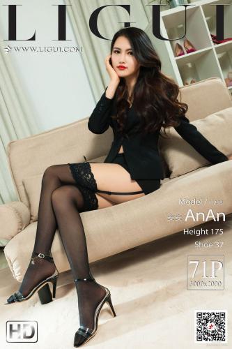 [丽柜Ligui] Model 安安 《丝袜蕾丝情》 写真集