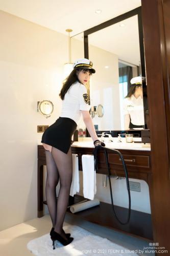 模特Arude薇薇 清纯格子裙系列