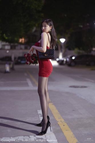 全民女神杨晨晨 猩红吊裙魅惑黑丝